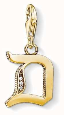 Thomas Sabo Pendant 'Letter D' 18K YellowGold Plated 925 Sterling Silver 1610-414-39