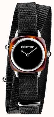 Briston | Clubmaster Lady | Single Black Nato | Tortoise Acetate | 19924.SA.T.1.NB - SINGLESTRAP
