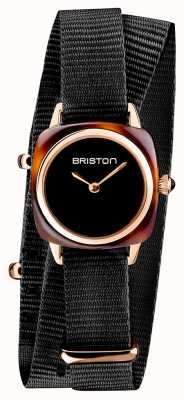 Briston | Clubmaster Lady | Single Black Nato | Rose Gold PVD Case | 19924.SPRG.M.1.NB - SINGLESTRAP