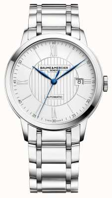 Baume & Mercier | Mens Classima | Automatic | Stainless Steel | Silver Dial BM0A10215
