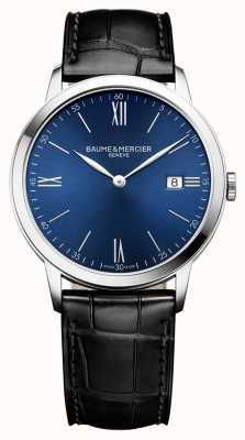 Baume & Mercier | Mens Classima | Black Leather Strap | Blue Dial | BM0A10324