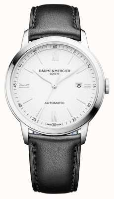 Baume & Mercier | Mens Classima | Automatic | Black Leather | White Dial | M0A10332