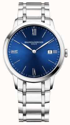 Baume & Mercier | Mens Classima | Stainless Steel Bracelet | Blue Dial | BM0A10382