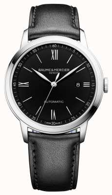 Baume & Mercier | Mens Classima | Automatic | Black Leather | Black Dial | M0A10453