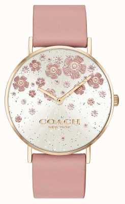Coach | Perry | Blush Leather Strap | Floral Glitter Dial | 14503325
