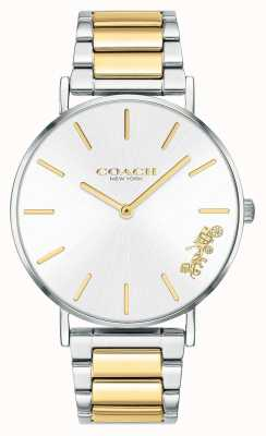 Coach | Womens | Perry | Two Tone Bracelet | Silver Dial | 14503347