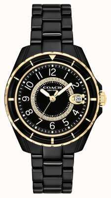 Coach | Womens | Preston | Black Ceramic Bracelet | Black Dial | 14503461