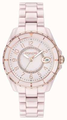 Coach | Womens | Preston | Pink Ceramic Bracelet | Pink Dial | 14503463