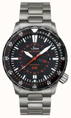 Sinn U2 SDR U-BOAT STEEL MISSION TIMER 1020.040bracelet