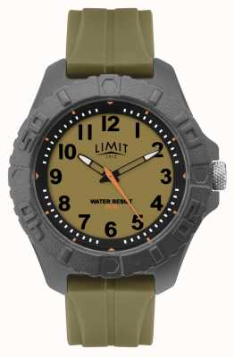Limit | Mens Active Adult Analogue | Green Rubber Strap | 5753.01