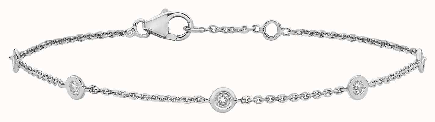 Treasure House 9k White Gold .35ct Diamond Bracelet BD016W
