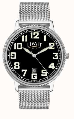 Limit | Mens Stainless Steel Mesh Bracelet | Black Dial | 5748.01