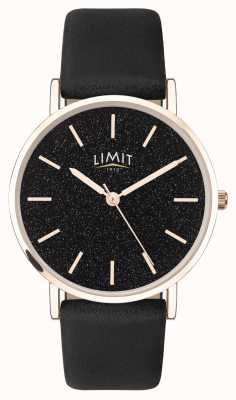 Limit | Womens Secret Garden | Black Leather Strap | Black Dial | 60045.73