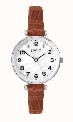 Limit | Womens Brown Leather Strap | Mother Of Pearl Dial | 60060.01