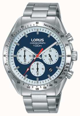 Lorus | Mens Chronograph | Stainless Steel Bracelet | Blue Dial | RT339HX9
