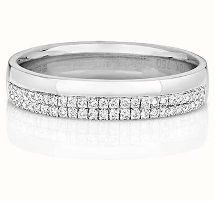 Treasure House 18k White Gold Micro Set Diamond Ring RDQ726W
