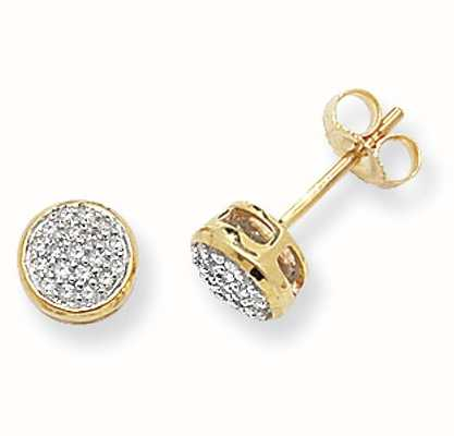 Treasure House 9k Yellow Gold Diamond Stud Earrings DE154