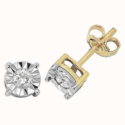 Treasure House 9k Yellow Gold Diamond Stud Earrings ED145