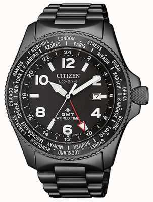 Citizen | Men's Eco-Drive Promaster GMT |Black Dial | Grey PVD BJ7107-83E