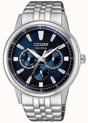 Citizen | Mens Eco-Drive | Stainless Steel Bracelet | Blue Dial | BU2071-87L