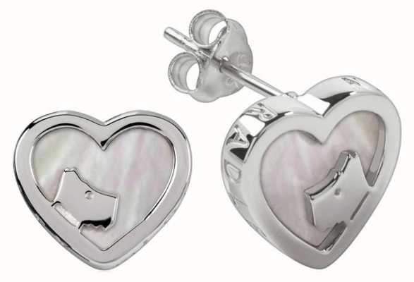 Radley Jewellery Silver Mother Of Pearl Heart Stud Earrings RYJ1067