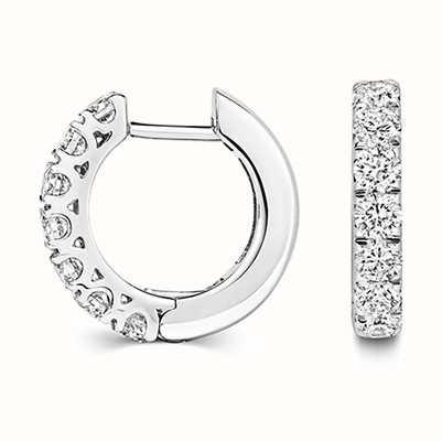 Treasure House 18k White Gold Diamond Hoop Earrings EDQ312W
