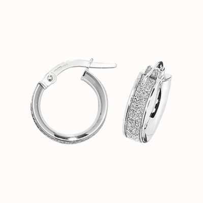 Treasure House 9k White Gold Hoop Earrings 10 mm ER1023W-10