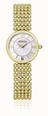 Michel Herbelin | Womens Perle | Gold Tone Bracelet | Mother Of Pearl Dial | 17483/BP19