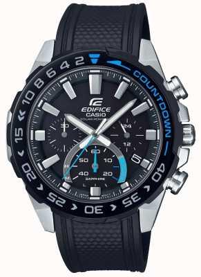Casio | Edifice Solar | Black Rubber Strap |Black Chronograph Dial EFS-S550PB-1AVUEF