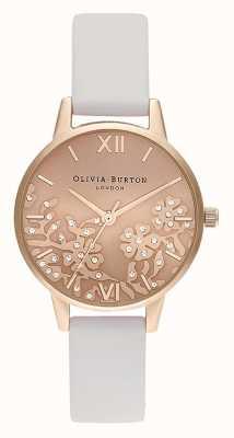 Olivia Burton   Womens   Bejewelled Lace   Stone Blush Leather Strap   OB16MV102