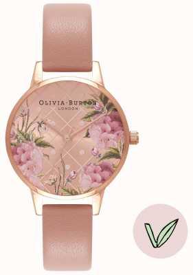 Olivia Burton | Womens | Floral Dial | Vegan Rose Sand Strap | OB16VE02
