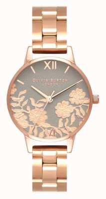 Olivia Burton | Womens | Lace Detail Dial | Rose Gold Bracelet | OB16MV88