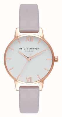 Olivia Burton   Womens   Grey Lilac Strap   White Dial   OB16MDW32