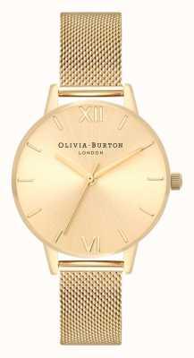 Olivia Burton | Womens | Sunray Midi Dial | Gold Mesh Bracelet | OB16MD85
