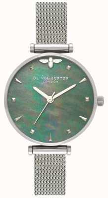 Olivia Burton   Womens   Queen Bee   Pearl   Steel Mesh Bracelet   OB16AM151