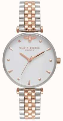 Olivia Burton   Womens   Queen Bee   Two Tone T Bar Bracelet   OB16AM93