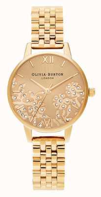 Olivia Burton   Womens   Bejewelled Lace   Gold Tone Bracelet   OB16MV105