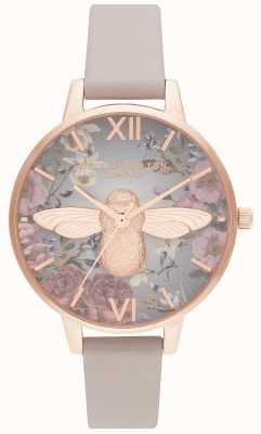 Olivia Burton | Womens | British Blooms | 3D Bee | Vegan Rose Strap | OB16EG134
