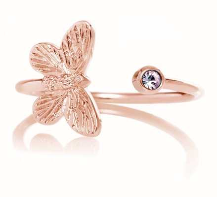 Olivia Burton | Bejewelled Butterfly| Rose Gold | Tanzanite | Ring | OBJ16MBR01