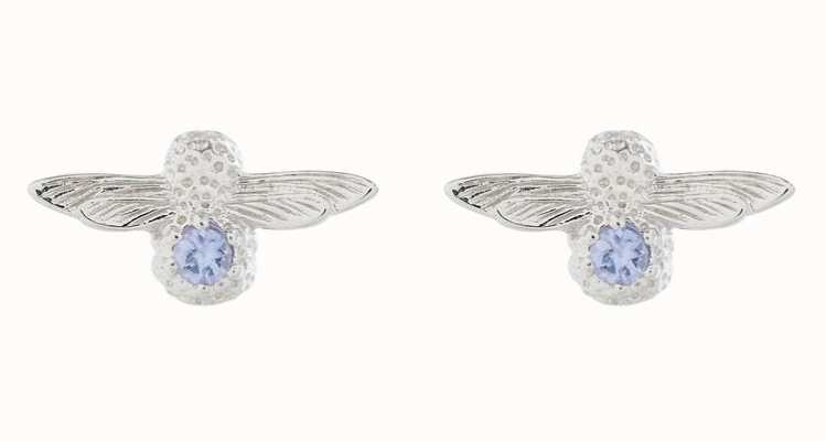 Olivia Burton | Bejewelled Bee | Silver | Tanzanite | Stud Earrings | OBJ16AME28