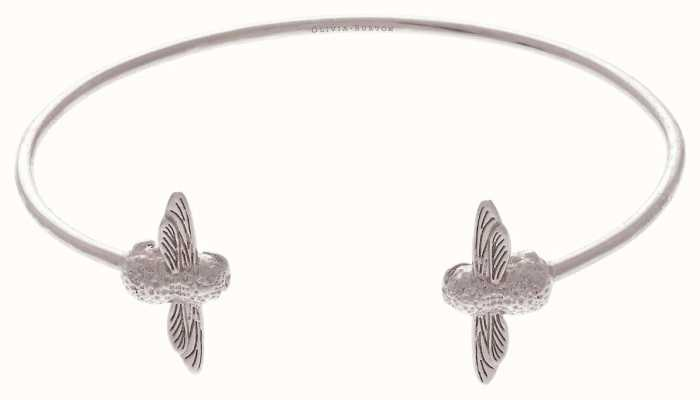 Olivia Burton | 3D Bee | Silver | Open End Bangle | OBJ16AMB03
