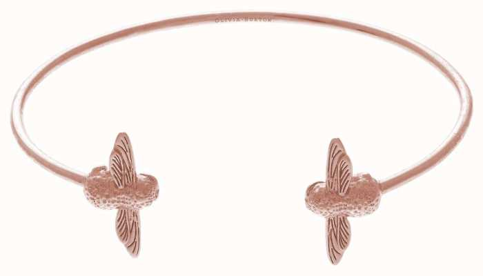 Olivia Burton | 3D Bee | Rose Gold | Open End Bangle | OBJ16AMB02