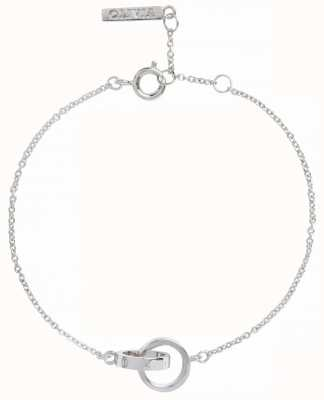 Olivia Burton | The Classics | Silver | Interlink Circle | Bracelet | OBJENB14B