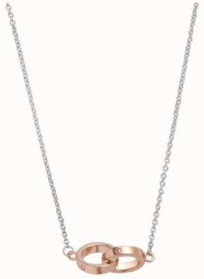 Olivia Burton | The Classics | Silver Rose | Interlink Circle | Necklace | OBJ16ENN53
