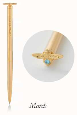 Olivia Burton | Celebration Stones Bee | Gold | Aquamarine | Pen | OBACS30