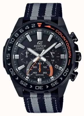 Casio | Mens | Edifice | Premium | Black Grey Strap | Watch | EFS-S550BL-1AVUEF