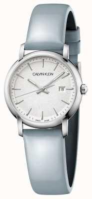 Calvin Klein   Womens Established   Blue Leather Strap   Silver Dial   K9H231V6