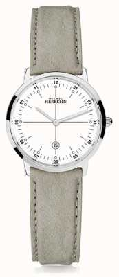 Michel Herbelin | City Quartz | Womens | Beige Leather Strap | White Dial | 16915/12LKN