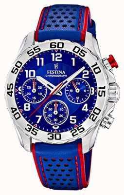 Festina   Men's/Junior's Blue Leather Strap   Blue Dial   F20458/2