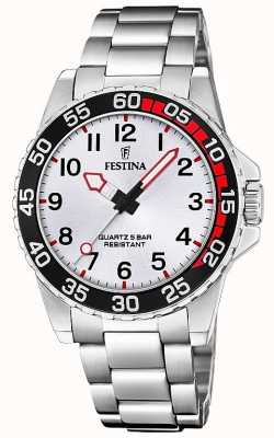 Festina   Unisex/Junior's Stainless Steel Bracelet   Silver Dial   F20459/1